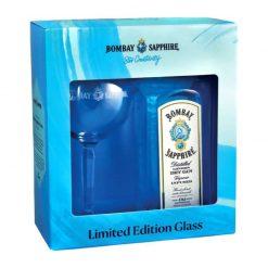 Bombay Sapphire 40% 0.7 + pohar
